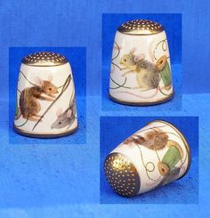 Staffordshire Enamel Thimble Sewing Mice | eBay Jul 23, 2013 / GBP 37.00 / 1,851.22 RUB
