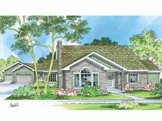 Eplans Cottage House Plan - Three Bedroom Cottage - 2056 Square Feet and 3 Bedrooms from Eplans - House Plan Code HWEPL58512