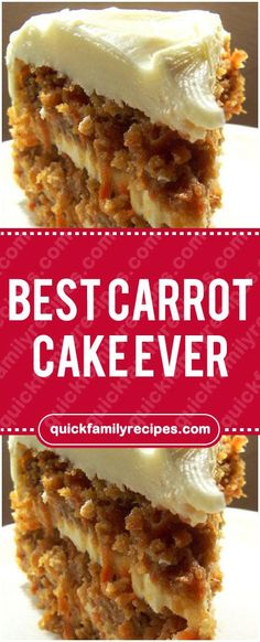 Best Carrot Cake Ever #carrot #cake #ever #easyrecipe #delicious #foodlover #homecooking #cooking #cookingtips