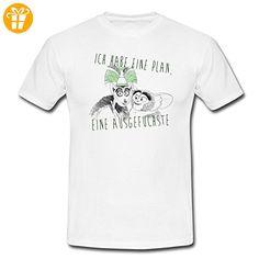 DreamWorks King Julien Ausgefuchster Plan Männer T-Shirt von Spreadshirt®, M, Weiß - T-Shirts mit Spruch | Lustige und coole T-Shirts | Funny T-Shirts (*Partner-Link)
