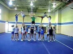 Leonardtown High School Varsity Cheer Pyramid 2009
