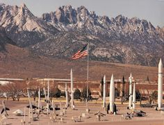 White Sands Missile Range with the Organ Mountains in the background