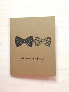 Gay Wedding Bowtie Notebook | All You Need Is Love