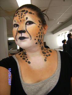 cheetah makeup