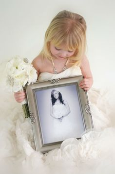 Aubrie in my wedding dress photo ideas Little Girl Wedding Dresses, Wedding Dress Pictures, Budget Wedding, Wedding Pictures, Modest Wedding, Dress Wedding, Trendy Wedding, Perfect Wedding, Baby Wedding