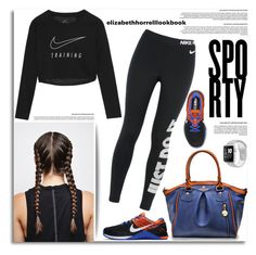 """""""SPORTY"""" by elizabethhorrell ❤ liked on Polyvore featuring NIKE"""