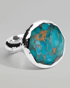 Wonderland Turquoise Round Ring by Ippolita at Bergdorf Goodman.