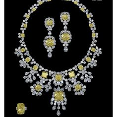 #yellow #diamond #set #chatila #jewellery #coloreddiamonds #london #geneva
