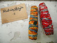 Rubinskaja handmade Dread Beads - textile, glass, alpaca, paint - http://rubinskaja.wordpress.com