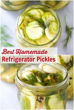 Best Homemade Refrigerator Pickles Best Homemade Refrigerator Pickles Recipe - The easiest pickle recipe ever! These perky crisp pickles make great snacks and sandwich toppers. No canning required! Homemade Refrigerator Pickles, Refrigerator Pickle Recipes, Homemade Pickles, Refridgerator Pickles Dill, Sauces, How To Make Pickles, Best Pickles, Canning Pickles, Freezer Pickles