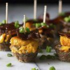 These cute and super tasty Candied Bacon Cheeseburger Bites are the ultimate… Greek Yogurt Chicken, Bake Zucchini, Fried Fish Recipes, Candied Bacon, Thing 1, Roasted Butternut Squash, Easy Weeknight Meals, Oven Baked, Food And Drink