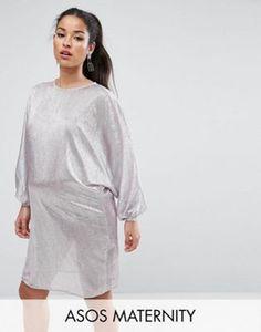 ASOS Maternity | ASOS Maternity Metallic Oversized Mini Dress