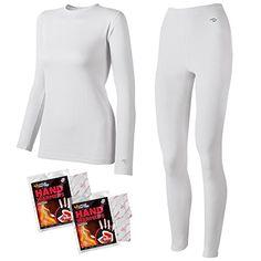 LANBAOSI Women's 2pc Long John Thin Seamless Thermal Underwear Set ...