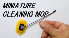 DIY!! ミニモップクリーナーの作り方 ★How to make a miniature cleaning mop(really works!!)
