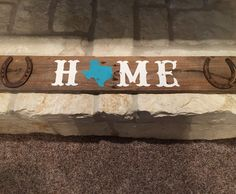 A personal favorite from my Etsy shop https://www.etsy.com/listing/269306068/home-pallet-sign