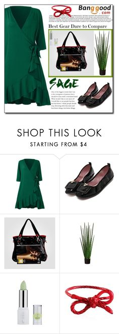 """Green Dress by Banggood 15/20"" by esma178 ❤ liked on Polyvore featuring SCP"
