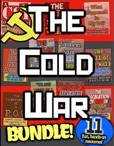 Cold War: 11 engaging resources for the 1950s, Korea, Vietnam, Soviets, & China!  In this Cold War Bundle, you receive 11 hands-on, engaging, and Common Core focused resources on the Cold War to enhance your instruction on the conflict between the United States and the Soviet Union. Purchase this unit bundle and save significantly over purchasing each resource separately.