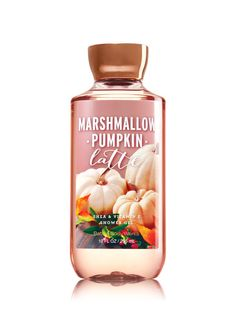 Marshmallow Pumpkin Latte Shower Gel - Signature Collection - Bath & Body Works - Laura Home Bath Body Works, Bath N Body, Bath And Body Works Perfume, Vitamin E, Latte, Body Cleanser, Bath And Bodyworks, Body Lotions, Smell Good