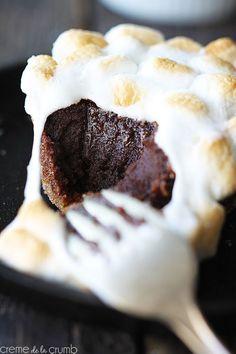 smores lava cake