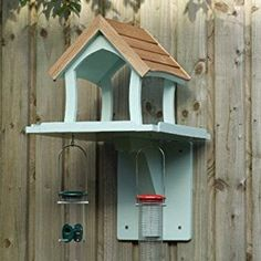 wall mounted bird houses/feeders | Wall mounted bird table, bird house,, hand made, painted wild bird ...