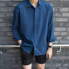 Lấy =ghi nguồn No= sv Korean Outfits, Short Outfits, Trendy Outfits, Fashion Outfits, Fashion Trends, Korean Fashion Men, Mens Fashion, Mode Man, Lookbook