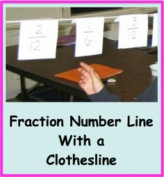 love2learn2day: Fraction Numberline with a Clothesline!