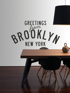 Hello Brooklyn Vinyl Decal Subway Station Sign By AnchorDecalCo - Custom vinyl decals brooklyn