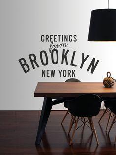 Hello Brooklyn Vinyl Decal Subway Station Sign By AnchorDecalCo - Custom vinyl decals brooklyn