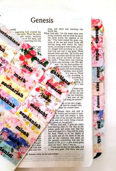 """FAVORITE Antique Shabby Chintz Style """"Chic Floral Wallpaper"""" Bible Journaling Bible Tabs"""