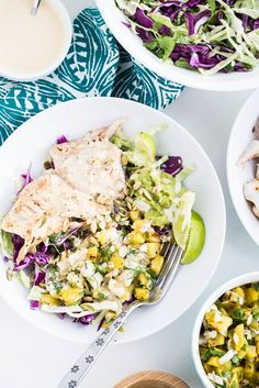 It's everything you love about a fish taco in salad form -- and paleo-friendly! These spiced fish taco bowls are so good you won't even miss the torillas.