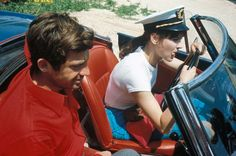 """""""Pierrot Le Fou"""" (1965) Another classic from Jean-Luc Godard, this film stars Jean-Paul Belmondo and model Anna Karina in an uncommonly colorful variation on the French New Wave style. Karina is a beautiful ingenue on the French Riviera who gets swept up in the intrigue surrounding Belmondo's dubious past."""