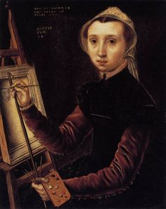 caterina van hemessen.     self-portrait. 1548.