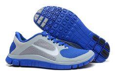 Billige Nike Free 4.0 Joggesko for Damer Mørk Blå Grå Online 604.44kr  GRATIS FRAKT VED DHL