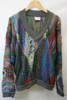 Genuine COOGI Australia V Neck Knitted Jumper 1990's