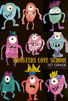 Inspired by the book, Monsters Love School by Mike Austin, children pick body parts to create their own unique monster to draw and paint. Fun art activity for boys and girls.