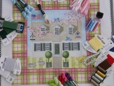 Spring House from Kirk and Hamilton   BeStitched Needlepoint
