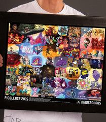 Newgrounds Picollage 2015 *LIMITED TIME* | Shark Robot Pinball, Shark, Robot, Pop Culture, Poster Prints, Anime, Sharks, Robots, Anime Shows
