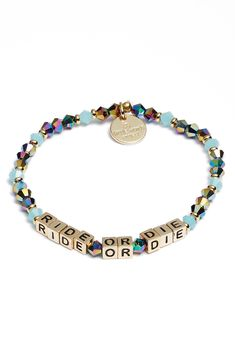 Little Words Project Ride or Die Beaded Stretch Bracelet Bead Embroidery Jewelry, Beaded Embroidery, Beaded Jewelry, Beaded Bracelets, Handmade Bracelets, Nordstrom Gifts, Ride Or Die, Girl Gang, Festival Outfits