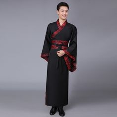 New 5 Color Ancient Chinese Hanfu Costume Men Clothing Traditional China Tang Suit Oriental Chinese Traditional Dress Men Chinese Traditional Costume Male, Chinese Men's Clothing, Chinese Suit, Hanfu, Wedding Men, Asian Fashion, Traditional Dresses, Dance Wear, Men Dress