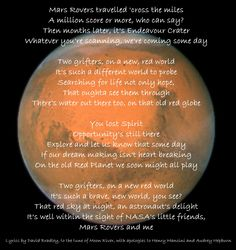 """Mars Rover"" to the tune of Moon River"