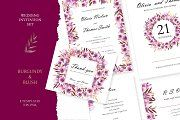 "Wedding Suite ""Burgundy and Blush"" by olga. Wedding Invitation Design, Wedding Stationary, Wedding Suite, Wedding Day, Menu Cards, Burgundy Wedding, Watercolor Flowers, Wedding Cards, Blush"