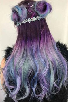 Likes, 321 Comments - Pulp Riot Hair Color (. - Likes, 321 Comments - Pulp Riot Hair Color (. Hair Dye Colors, Ombre Hair Color, Cool Hair Color, Purple Hair, Ombre Hair Rainbow, Pastel Ombre Hair, Galaxy Hair Color, Dyed Hair Ombre, Pastel Pink