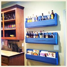 Trendy pallet shelf