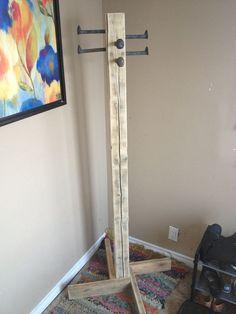 DIY Free Standing Coat Rack