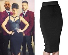 Alicia Keys shows off her fantastic figure in a black Thierry Mugler pencil skirt at the NRJ Music Awards in Cannes, France!
