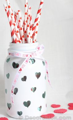 Crafts, Valentine's day - Made a cute custom heart jar perfect for Valentine's day, and can be used year round too! Come see how I did it and the tips needed to…