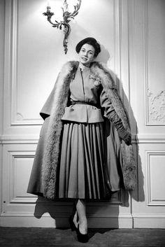 1947 - Christian Dior winter ensemble
