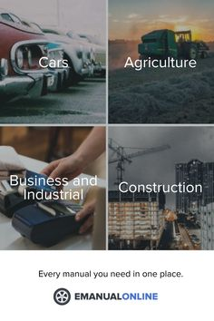 Everything you need in one place: emanualonline.com Agriculture Business, Advertise Your Business, Business Products, Repair Manuals, Cool Cars, Workshop, Advertising, Atelier, Work Shop Garage