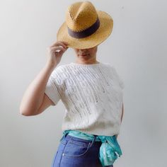 """SHOP VINTAGE THRIFTED on Instagram: """"#vintage Asymmetric Cable knit pattern top . This top is a boxy vintage knit with a Unique knit pattern. Cute shoulder length sleeves.…"""" Vintage Knitting, Top Pattern, Shoulder Length, Knit Patterns, Cable Knit, Vintage Shops, Panama Hat, Thrifting, Unique"""