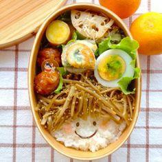 japanese style smile bento